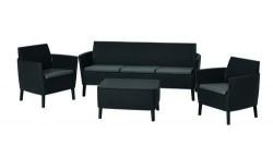 Набор мебели  Salemo 3 seater set   графит