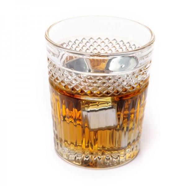 Камни кубики для виски металлические 6 шт в подарочной коробке
