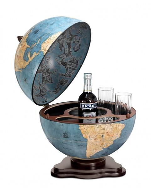 Глобус-бар настольний Галилео Blue dust