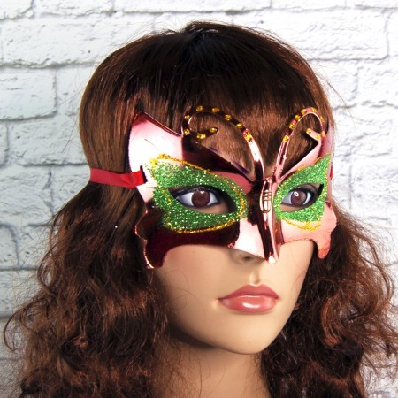 Венецианская маска Бабочка (красная)