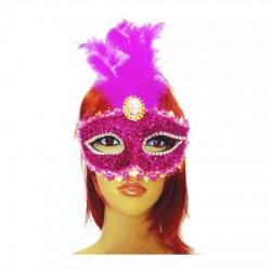 Венецианская маска Патриция (малиновая)