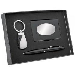 Подарочный набор брелок. ручка, визитница