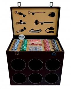 Набор для покера и вина на 6 бутылок
