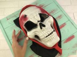 Маска Череп Пирата с бинтом кровью и пауком