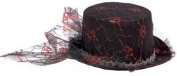 Шляпа Дама гипюр с черепами