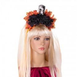 Украшение на голову Хэллоуин Морена с фатой