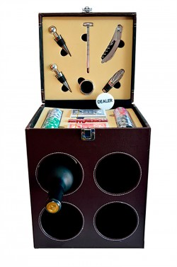 Набор для покера и вина на 4 бутылки