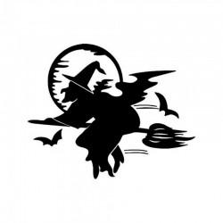 Интерьерная наклейка Ведьма FX3017 52х60см