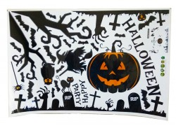 Интерьерная наклейка Хэллоуин Тыква 60х90см