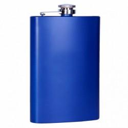 Металлическая фляга синяя