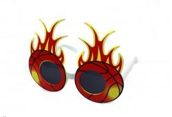 Очки Баскетбольные мячики в пламени