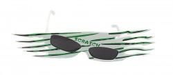 Очки карнавальные Scratch зеленые