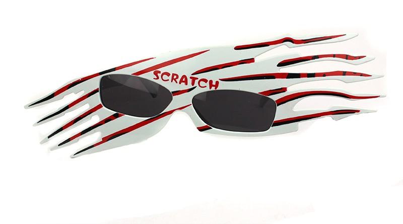 Очки карнавальные Scratch красные