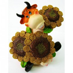 Корова с подсолнухами копилка