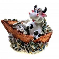 Копилка Корова в лодке