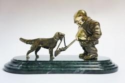 Бронзовая статуэтка На охоту