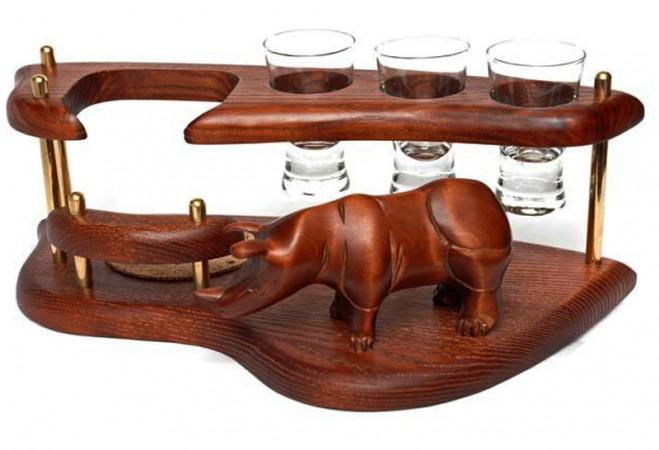 Мини-бар водочный поднос Носорог