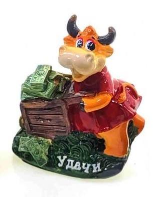 Статуэтка Корова Удачи с деньгами символ 2021 года