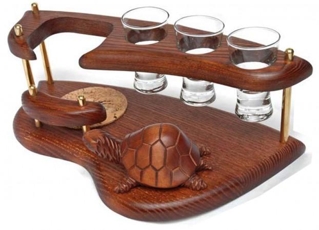 Мини-бар водочный поднос Черепаха