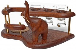 Мини-бар водочный поднос Слон трубящий