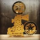 Часы  Кинопроектор (золотой)