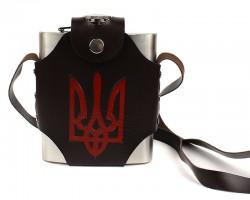 Фляга чистая в кобуре Украина