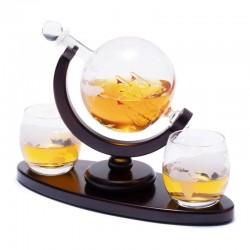 Набор для виски  штоф и стаканы Вокруг мира