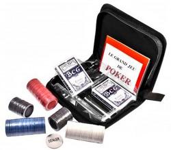 Набор для игры в покер в тканевом кейсе