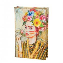 Книга-сейф Девушка в цветах