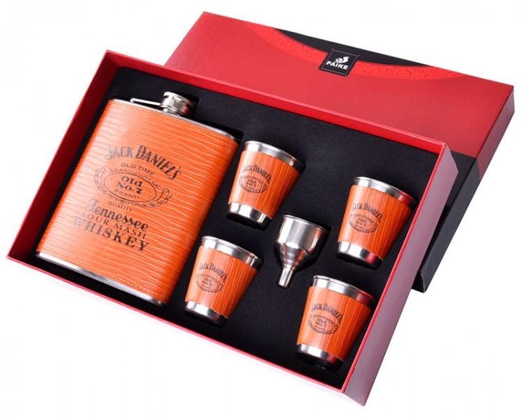 Подарочный набор с флягой 6в1 Jack Daniels
