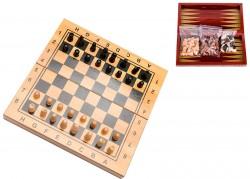 Игровой набор 3 в 1 шахматы,шашки и нарды 29,5x15 см