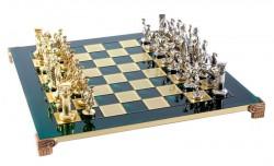 Шахматы Manopoulos Греко-Римский период в деревянном футляре 44х44 см, Зеленые