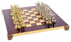 Шахматы Manopoulos Лучники в деревянном футляре 28х28 см, Красные