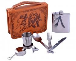 Подарочный набор в кожаной барсетке Охотничий