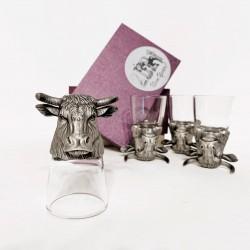 Подарочный набор рюмок Бык