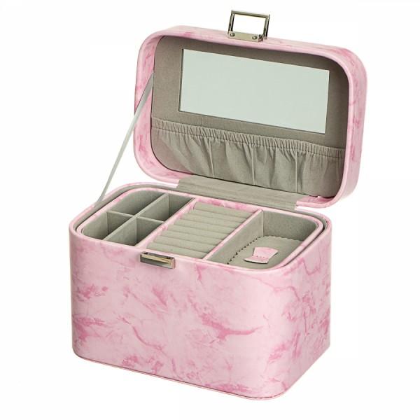 Шкатулка для украшений   Розовый мрамор