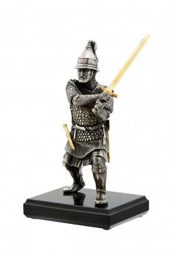Бронзовая статуэтка Русский воин