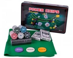 Набор для игры в покер 300 фишек с номиналом в коробке