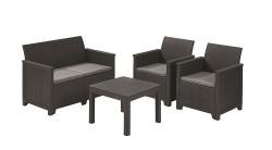 Набор мебели Keter Emma 2 seater set серый
