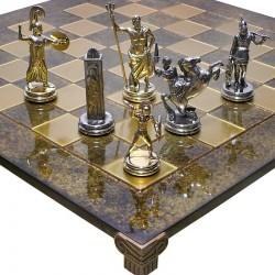Шахматы Посейдон коричневые Manopoulos 54 x 54 см