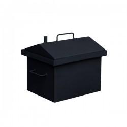 Коптильня горячего копчения  малая с крышкой домиком и покраской 380x320x360
