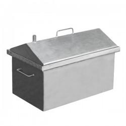 Коптильня горячего копчения  средняя с крышкой домиком 590x360x390