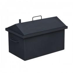 Коптильня горячего копчения средняя с крышкой домиком и покраской 590хШ360хВ390