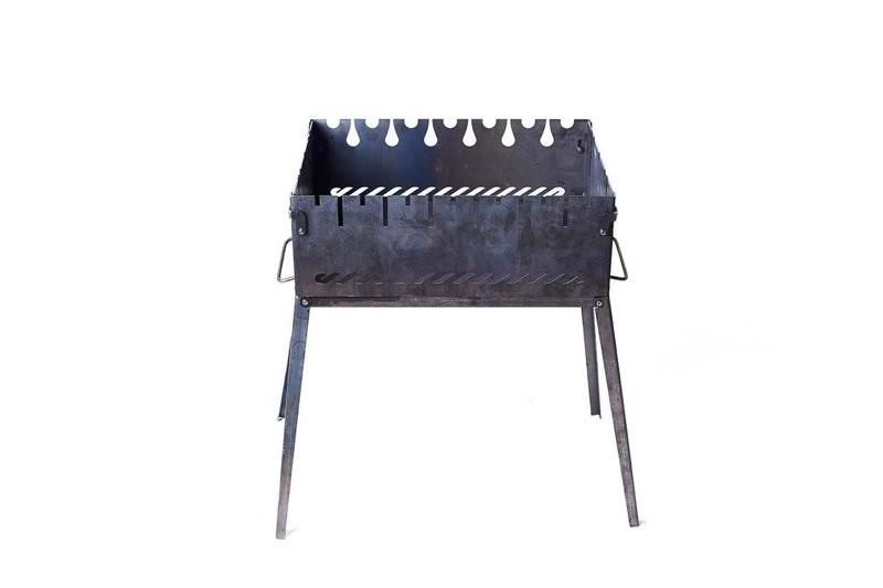 Раскладной мангал чемодан на 6 шампуров из стали с сумкой и решеткой