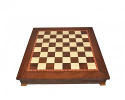 Шахматное Поле-Бокс С Местом Для Укладки Шахмат (Коричневая Доска)