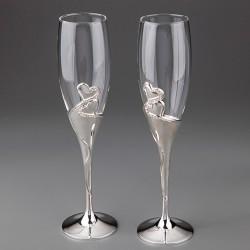 "Свадебные бокалы ""Два сердца"""