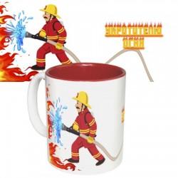 Чашка с принтом  Пожарный