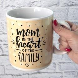 Кружка Гигант Мама сердце семьи