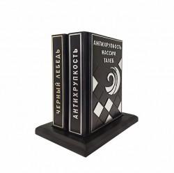 Комплект книг  Черный лебедь и Антихрупкость  на кожаном постаменте