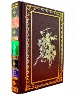 Подарочная книга «Канон Ангелу Грозному» Иван Грозный в кожаном переплете